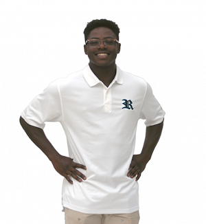 White Champion Golf Shirt