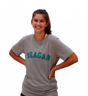 T-Shirt With Distressed Reagan